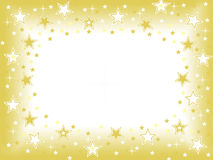 Gold star with blank space celebration background Royalty Free Stock Photos