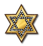 Gold star bling bling symbol logo Royalty Free Stock Photography