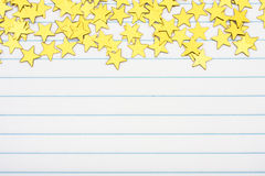 Gold Star Border Stock Photography