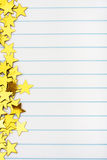 Gold Star Border Stock Photos
