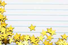 Gold Star Border Stock Photo