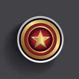 Gold star button Stock Photography