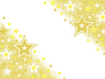 Gold star celebration abstract background with white blank space Royalty Free Stock Photos