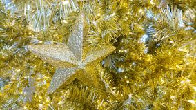 Gold star Christmas Stock Images