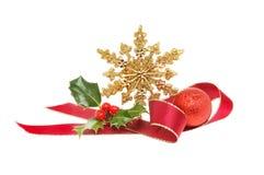 Gold star Christmas decoration Stock Image