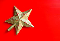 Gold star christmas ornament Royalty Free Stock Image
