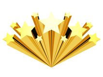 Gold Star Clip Art Isolated On A White Stock Images