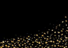 Gold star confetti background Stock Images