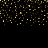 Gold star confetti background Stock Photography
