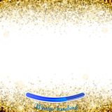 Gold star confetti celebration, isolated on white background. Fa. Lling golden abstract decoration for party, birthday celebrate, anniversary or event, festive Royalty Free Stock Photos
