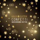 Gold Star Confetti Royalty Free Stock Photo