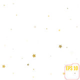 Gold star confetti rain festive holiday background. Vector golde. N paper foil stars falling down  on transparent background Royalty Free Stock Photos