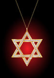 Gold Star of David Royalty Free Stock Image
