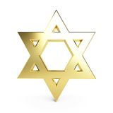 Gold star of David Stock Photography