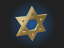 Gold Star of David Royalty Free Stock Photography