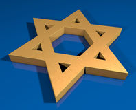 Gold Star of David Stock Photo