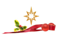 Gold star decoration Stock Photography