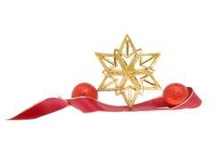 Gold star decoration stock photo