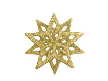 Gold star decoration on white Royalty Free Stock Photos