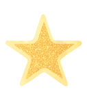 Gold star. Glittering gold star isolated on white background Stock Images
