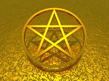 Gold Star on Gold Background Royalty Free Stock Image