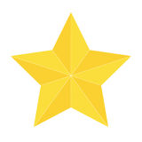 Gold star icon isolated. Design Stock Photo