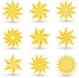 Gold star icons Royalty Free Stock Image