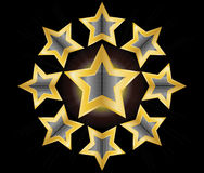 Gold star  illustration Royalty Free Stock Image