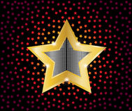 Gold star  illustration Royalty Free Stock Photos