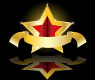 Gold star  illustration Stock Photos
