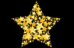 Gold star  illustration Royalty Free Stock Photography