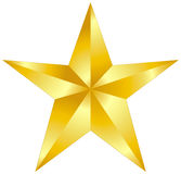 Gold star. Illustration in white background Royalty Free Stock Image