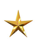 Gold star isolated Stock Photo