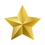 Gold star isolated vector object. Gold star. Vector, isolated object on white background Stock Photography