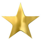 Gold star. Isolated on white Stock Image