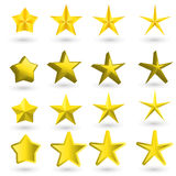Gold star on the light background. This is file of EPS10 format Stock Image