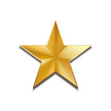 Gold star logo for your design, vector illustration. Isolated on white Royalty Free Stock Photo