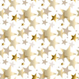 Gold star luxury pastel color seamless pattern. Abstract decorative Christmas vector illustration. gold and beige pale color winter festive background Royalty Free Stock Photography