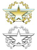 Gold star medal Stock Photos