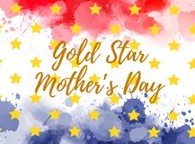 Gold Star Mother`s Day vector illustration
