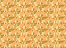 Gold star orange symmetry seamless pattern Stock Images