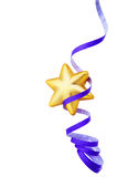 Gold star with paper streamer Royalty Free Stock Image