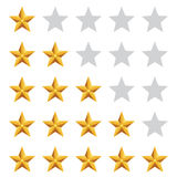 Gold star rating Royalty Free Stock Photos