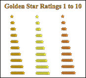 Gold Star Rating System Royalty Free Stock Images