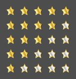 Star rating template. Gold star rating template, graphic element royalty free illustration