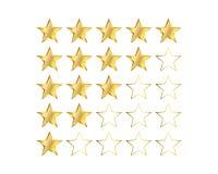 Gold Star Ratings Royalty Free Stock Photos