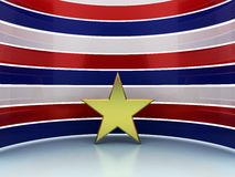 Gold star red blue white Royalty Free Stock Image
