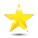 Gold Star. Represent victory, brilliant and success Stock Images