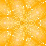Gold Star Retro Backgrounds. A gold gradient with white decorative patterns in a star shape texture background Royalty Free Stock Photos