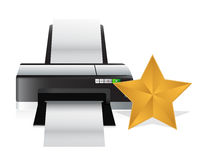 Gold star review concept Royalty Free Stock Images